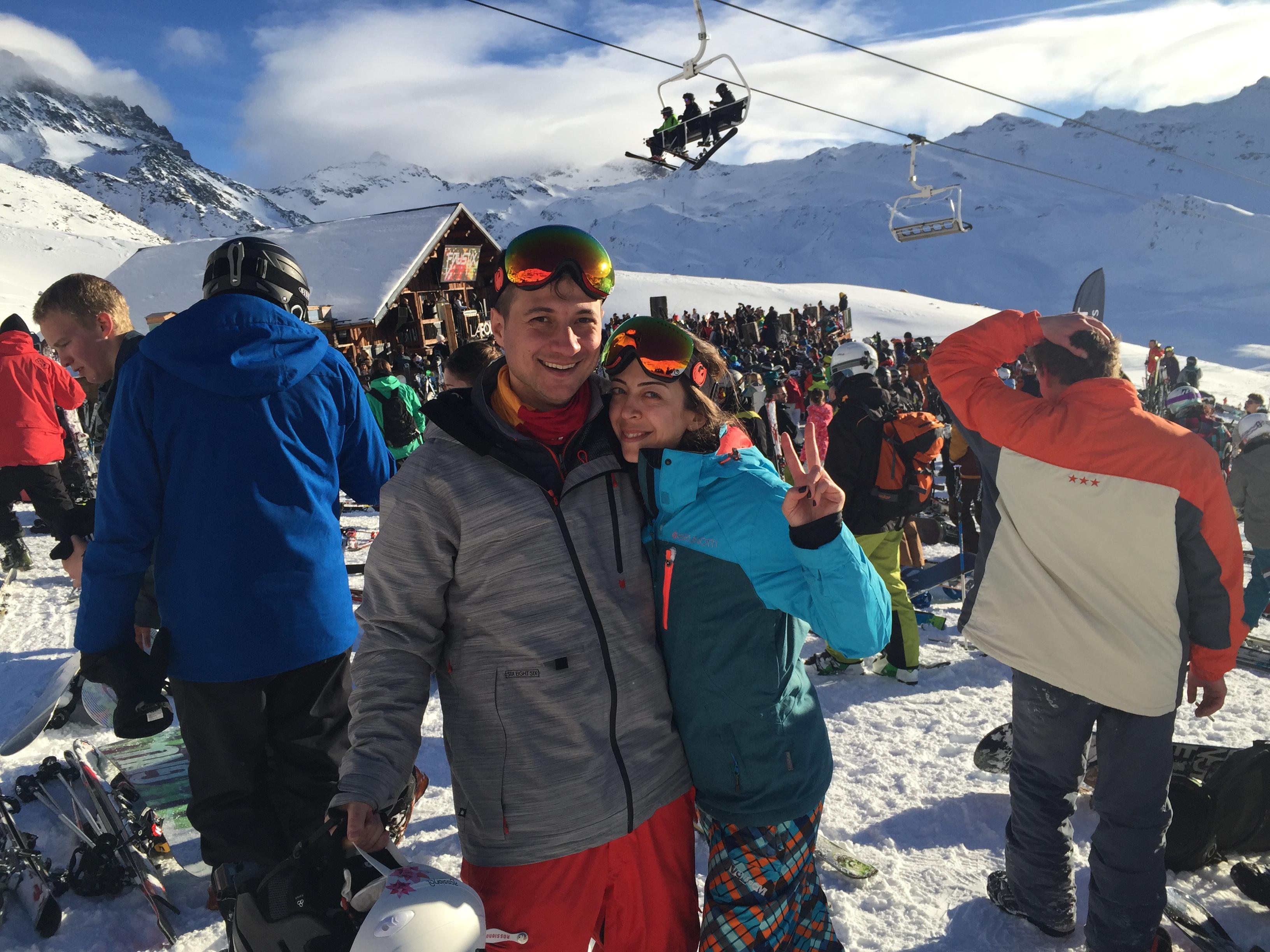 La Folie Douche'de Apres-Ski (Ski sonrası) partisi :)
