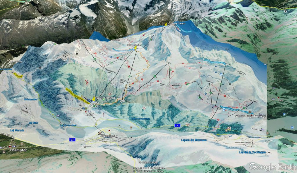 Silvaplana Corvatsch Google Earth Piste Map